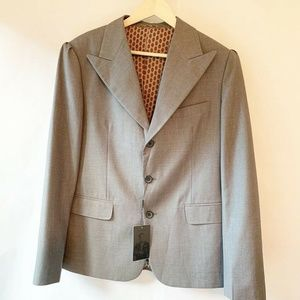 NWT Don Morphy Suit Jacket Gray 3 Button Lined 42